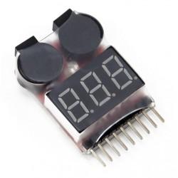 Volt Checker & Low Volt Buzzer - 1 to 8s Lipo/Li-ion/NiMH/LiFe